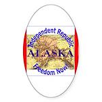 Alaska-3 Oval Sticker