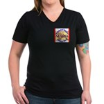 Alaska-3 Women's V-Neck Dark T-Shirt