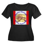 Alaska-1 Women's Plus Size Scoop Neck Dark T-Shirt