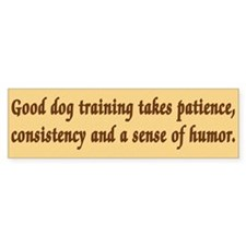 Good Dog Training Bumper Bumper Sticker