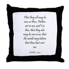 JOHN  17:21 Throw Pillow