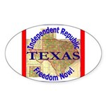 Texas-3 Oval Sticker