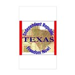 Texas-3 Rectangle Sticker