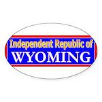 Wyoming-2 Oval Sticker (50 pk)