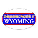 Wyoming-2 Oval Sticker (10 pk)