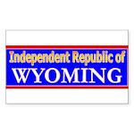 Wyoming-2 Rectangle Sticker