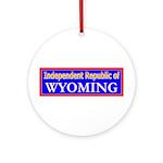 Wyoming-2 Ornament (Round)