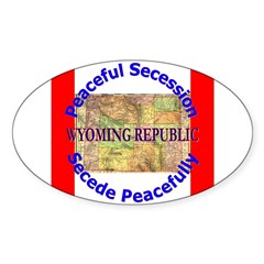 Wyoming-1 Oval Sticker (50 pk)