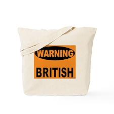 British Warning Tote Bag