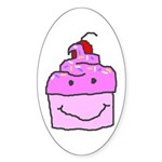 Scratch Cake Oval Sticker