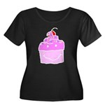 Scratch Cake Women's Plus Size Scoop Neck Dark T-S