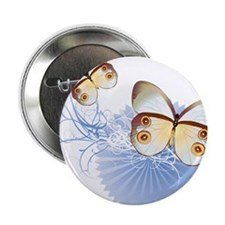 "Blue Butterflies 2.25"" Button (100 pack)"