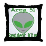 Area 51 Resident Alien Throw Pillow