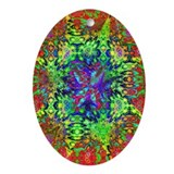 Cool Psychedelic paisley Oval Ornament