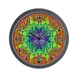 Psychedelic paisley Wall Clock