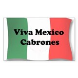Viva Mexico Cabrones! Rectangle Sticker 50 pk)
