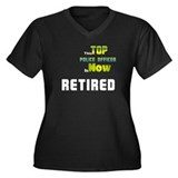 Top Police Officer Retired Women's Plus Size V-Nec