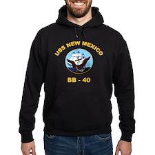 USS New Mexico BB 40 Hoodie