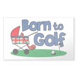 Born To Golf Rectangle Decal