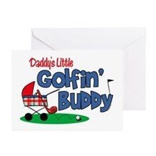 Daddy's Little Golfin' Buddy Greeting Cards (Pk of