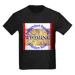 Wyoming-3 Kids Dark T-Shirt