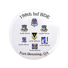 "198th Inf BDE com 3.5"" Button"
