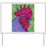 Red/Purple Rooster Yard Sign