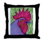 Red/Purple Rooster Throw Pillow