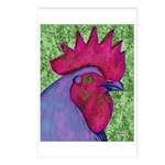 Red/Purple Rooster Postcards (Package of 8)