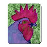 Red/Purple Rooster Mousepad