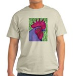 Red/Purple Rooster Light T-Shirt