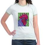 Red/Purple Rooster Jr. Ringer T-Shirt