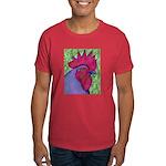 Red/Purple Rooster Dark T-Shirt