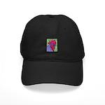 Red/Purple Rooster Black Cap