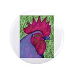"""Red/Purple Rooster 3.5"""" Button (100 pack)"""