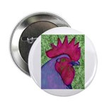 """Red/Purple Rooster 2.25"""" Button (100 pack)"""