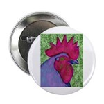 """Red/Purple Rooster 2.25"""" Button"""