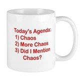 Today's Agenda: Chaos Small Mug