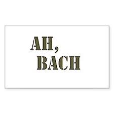 Ah, Bach Rectangle Decal