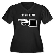 fail Women's Plus Size V-Neck Dark T-Shirt