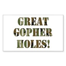 Great Gopher Holes Rectangle Decal