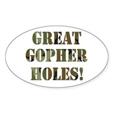 Great Gopher Holes Oval Decal