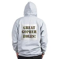 Great Gopher Holes Zip Hoodie