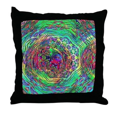 Cosmic Swirl Throw Pillow