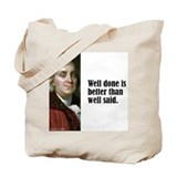 "Franklin ""Well Done"" Tote Bag"