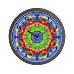 Bright Kaleidoscope Wall Clock