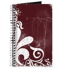 Maroon Grunge Journal