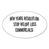 Resolution Oval Sticker (10 pk)