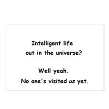 Intelligent life out in the universe? Postcards (P