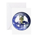 World Peace Sign West Greeting Cards (Pk of 10)